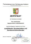 Zertifikat Tierärztekammer SH